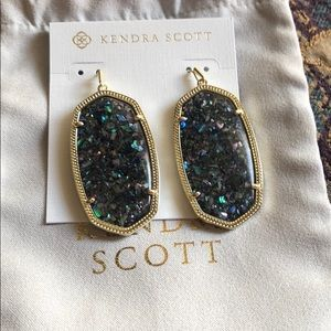 NWT Kendra Scott Crushed Abalone Danielle Earrings